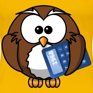 Owl with calculator - Women's Premium T-Shirt