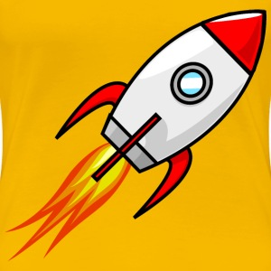 Cartoon Moon Rocket Remix 2 - Women's Premium T-Shirt