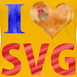 I Love SVG - Women's Premium T-Shirt