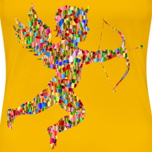 Vibrant Chromatic Tiled Martin74 Cupid Silhouette - Women's Premium T-Shirt