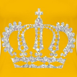 Crystal Royal Crown No Background - Women's Premium T-Shirt