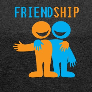 friendship - Women´s Rolled Sleeve Boxy T-Shirt