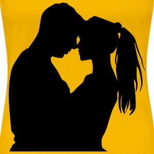 Young Couple Silhouette - Women's Premium T-Shirt