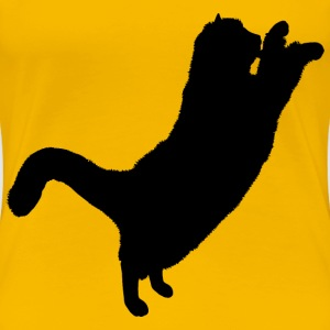 Fluffy Cat Silhouette 2 - Women's Premium T-Shirt