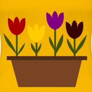 Tulips in a pot, just random! - Women's Premium T-Shirt