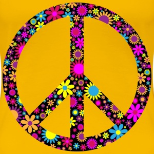 Floral Peace Sign - Women's Premium T-Shirt