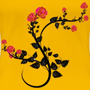 Rose Floral Flourish - Women's Premium T-Shirt