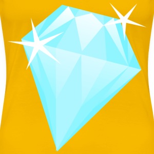 Light blue diamond - Women's Premium T-Shirt