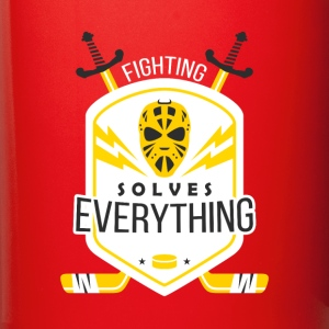 Fighting Solves Everything Hockey T-shirt Mugs & Drinkware - Full Color Mug