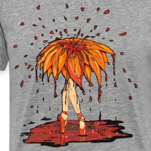 Dead Ballet Flower  Blood on Grey Boredom - Men's Premium T-Shirt