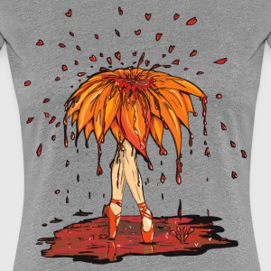 Dead Ballet Flower  Blood on Grey Boredom - Women's Premium T-Shirt