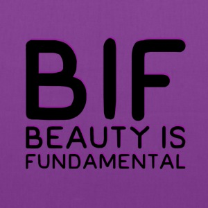 BIF - BEAUTY IS FUNDAMENTAL-BLK Bags & backpacks - Tote Bag