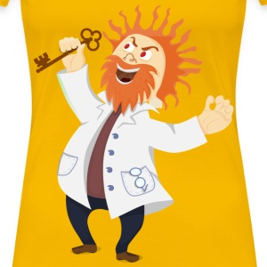 Mad scientist with a key - Women's Premium T-Shirt