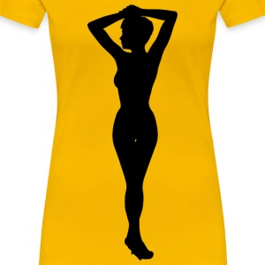 Woman with hands up - Women's Premium T-Shirt