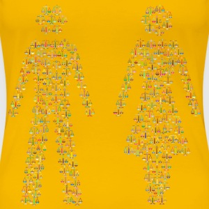 Prismatic Gender Equality Male And Female Figures - Women's Premium T-Shirt
