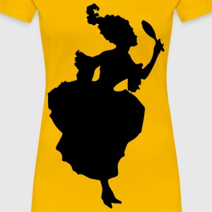 18th Century Fashion Silhouette - Women's Premium T-Shirt