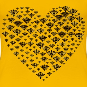 Damask Heart - Women's Premium T-Shirt