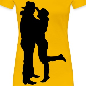 Romantic Couple Silhouette - Women's Premium T-Shirt