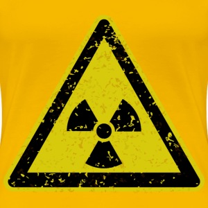 Grungy radiation warning sign - Women's Premium T-Shirt