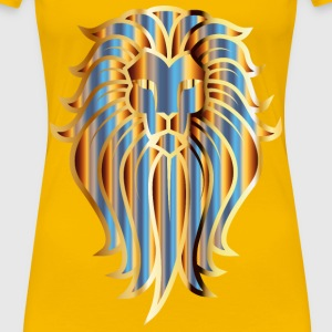 Chromatic Lion Face Tattoo No Background - Women's Premium T-Shirt