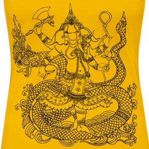 Hindu Elephant God - Women's Premium T-Shirt