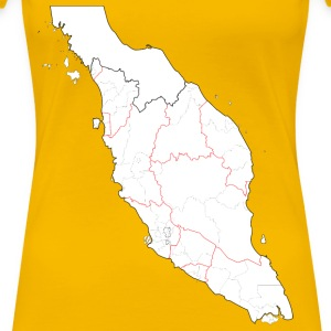Blank map of Peninsular Malaysia (fixed and update - Women's Premium T-Shirt