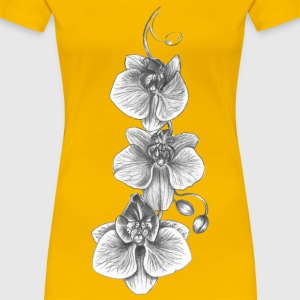 Orchid Sketch - Women's Premium T-Shirt