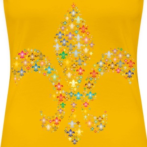 Colorful Fleur De Lis Fractal 2 - Women's Premium T-Shirt