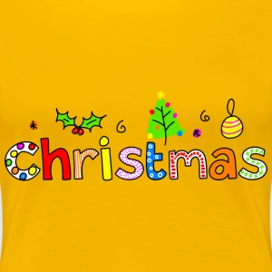 Christmas Typography - Women's Premium T-Shirt