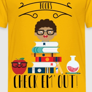 Books Check Em Out Kids' Shirts - Kids' Premium T-Shirt