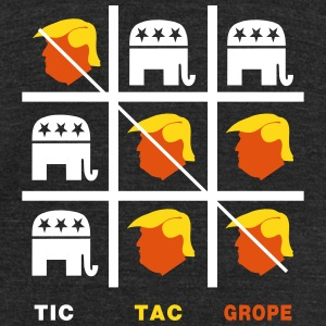 Tic Tac Trump Grope T-Shirts - Unisex Tri-Blend T-Shirt by American Apparel