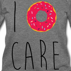 I Donut Care Funny Quote Long Sleeve Shirts - Women's Wideneck Sweatshirt