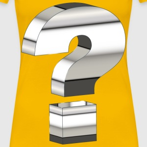 Reflective Chrome 3D Question Mark - Women's Premium T-Shirt