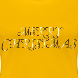 Merry Christmas 4 No Background - Women's Premium T-Shirt
