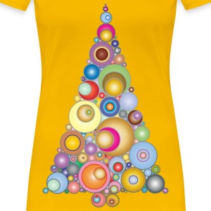 Colorful Abstract Circles Christmas Tree 3 - Women's Premium T-Shirt