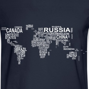 World Map Long Sleeve Shirts - Men's Long Sleeve T-Shirt