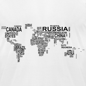 World Map T-Shirts - Men's T-Shirt by American Apparel