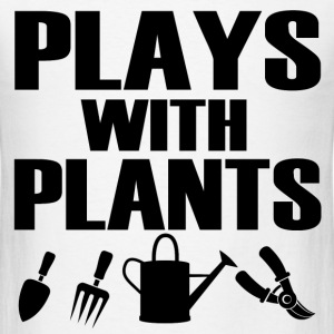 PLAYS WITH PLANTS1.png T-Shirts - Men's T-Shirt