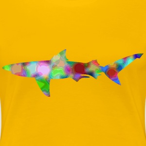 Psychedelic shark (reduced file size) - Women's Premium T-Shirt