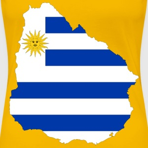 Uruguay Map Flag - Women's Premium T-Shirt