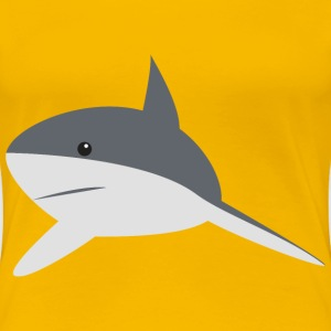 Cartoon Shark 2 - Women's Premium T-Shirt