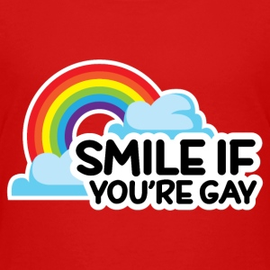 Smile If You're Gay LGBT Pride Baby & Toddler Shirts - Toddler Premium T-Shirt