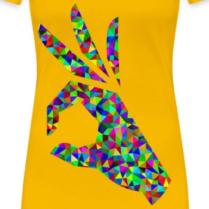 Prismatic Low Poly OK Perfect Hand Sign Emoji 3 - Women's Premium T-Shirt