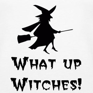 What up witches -halloween - Women's Premium Tank Top