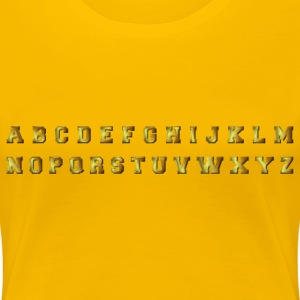 Bronze Alphabet With Inner Shadow - Women's Premium T-Shirt