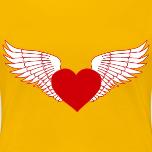 Flying Heart - Women's Premium T-Shirt