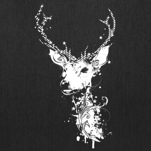 A white deer head Bags & backpacks - Tote Bag