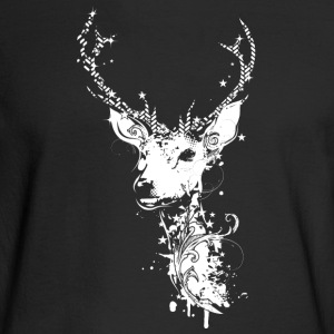 A white deer head Long Sleeve Shirts - Men's Long Sleeve T-Shirt