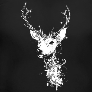 A white deer head T-Shirts - Women's Maternity T-Shirt