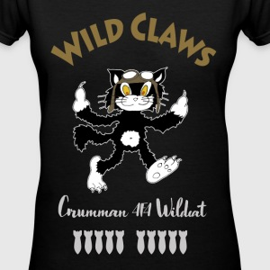 wildcat aviator T-Shirts - Women's V-Neck T-Shirt